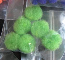 Pompons 10 mm - groen