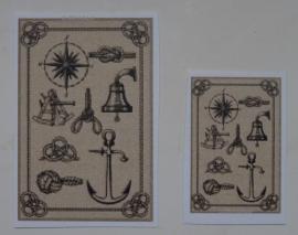 Bord met maritieme voorwerpen  (print)