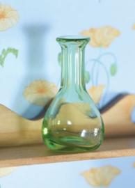 Groen glazen vaas