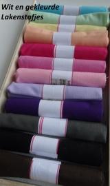 Lakenstofjes in meerdere kleuren