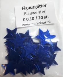 Figuurglitter - Blauwe ster