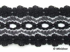 KS06 - Zwart Bloemenkant