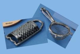 Keukenrasp en -zeef