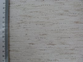 Behang - wit met bruin streep motief