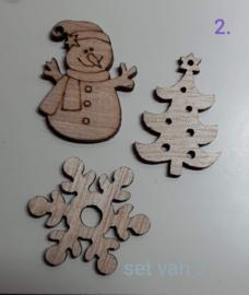 Houten Kerstfiguren (2)
