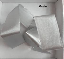 Satijnlint - grijs