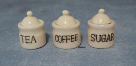 Koffie, Thee en Suikerpot