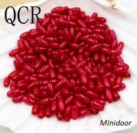 Rijstkorrel 4 x 8 mm - Rood
