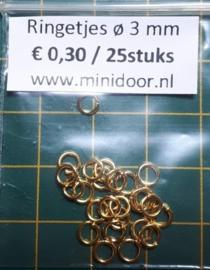Ringetjes - ø 3 mm (G)