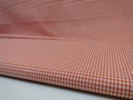 Ruit stof 2 mm - Oranje / Wit