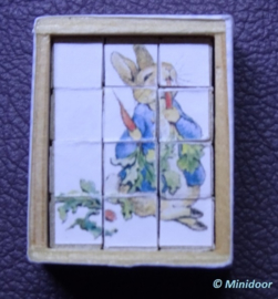 """Blokpuzzel """"Beatrix Potter""""  (zelf maken)"""