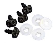 Dierenneuzen - zwart - 12 mm