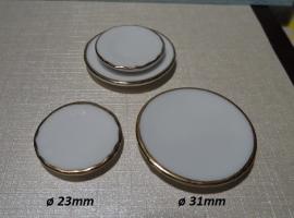 Bord / gouden rand / ø 23 mm