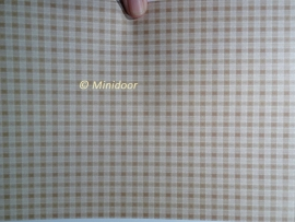 Behang: Bruin geruit (A4 Printvel)