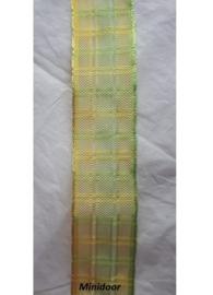 Geblokt band - geel /groen