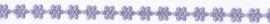 Lint Bloemen 3mm - Paars