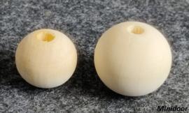Houten kraal -  ø 25 mm / ø 20 mm