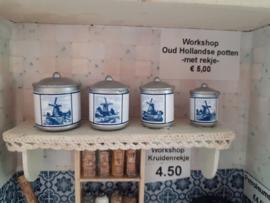 Rekje met Oud Hollandse potten