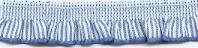 Elastisch Band met Ruche 13mm - Blauw/wit gestreept