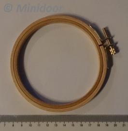 Houten Borduurring - ø 105 mm