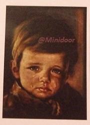 """Schilderij """"Jongen met traan"""""""