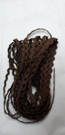 Zigzagband 2 mm - 3m bruin