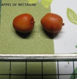 Rode appel of Nectarine