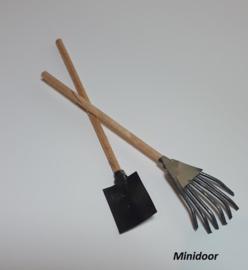Bladhark en schop (zelf maken)