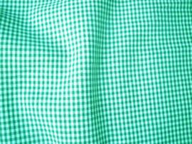 Ruit stof 2 mm - Groen / Wit