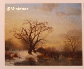 """Schilderij 'Winterlandschap"""""""