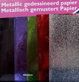 5 velletjes metaal papier