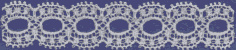 Cotton Lace, Ribbon Eyelet 47 - Ivory