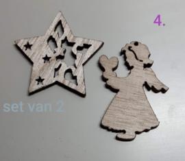 Houten Kerstfiguren (4)