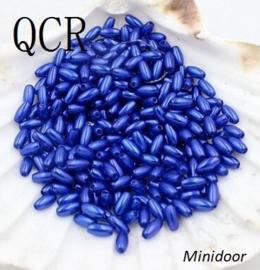 Rijstkorrel 4 x 8 mm - Blauw