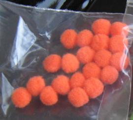 Pompons 3 mm - oranje