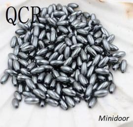 Rijstkorrel 4 x 8 mm - Zilvergrijs