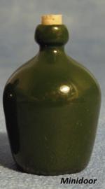 Grote groene wijnfles