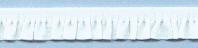 Elastisch Band met Ruche 11mm - Wit