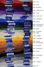 Mouliné - streng 8 meter - 24 kleuren