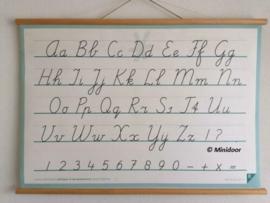 """Schoolplaat """"Schrijfletters"""""""