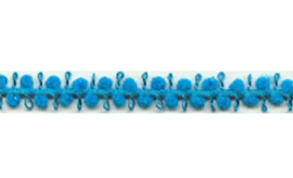 Pompomband 7 mm - Turquoise