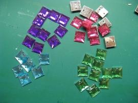 Glittersteentjes - vierkant