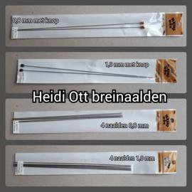 breinaalden 0.8 x 180 mm (met knop)