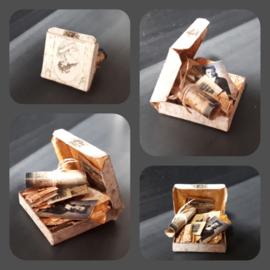 Box met oude brieven en foto's (zelf maken)