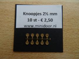 KN52 - Koperkleurig knoopje 2½ mm