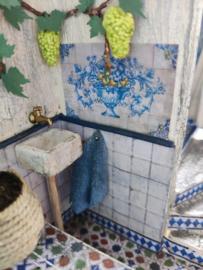 Fonteintje met kraan en handdoekje (zelf maken)