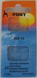 Pony Needles - size10