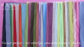 Tissue-papier - set van 30 verschillende kleuren