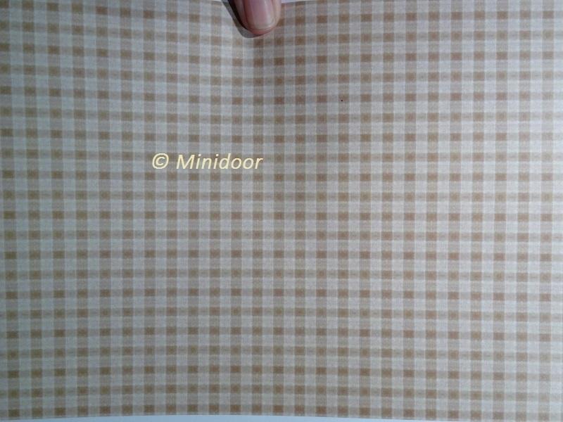 Print Behang: Bruin geruit