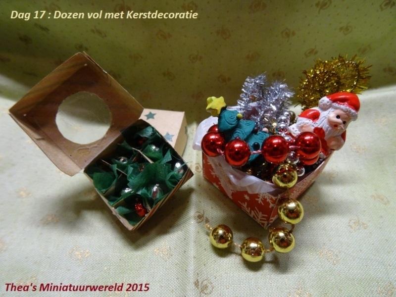 Dozen met Kerstdecoratie (zelf maken)